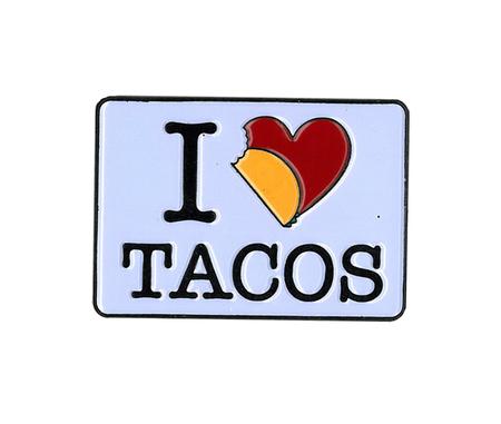 Evilkid I Heart Tacos Enamel Pin | Enamel Pins