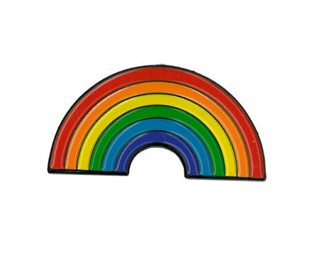 Rainbow Enamel Pin | Peace and Eco