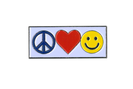 Peace, Love, Happy Enamel Pin | Peace and Eco