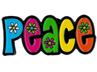 PEACE w/ Flowers Enamel Pin | The Very Latest!!!