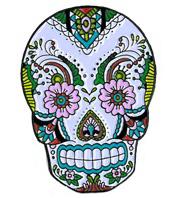 Sunny Buick Lace Skull Enamel Pin | The Very Latest!!!