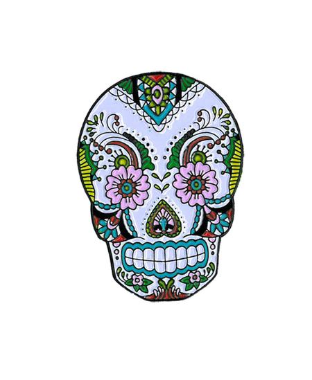 Sunny Buick Lace Skull Enamel Pin | Sunny Buick