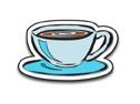 Coffee Cup Enamel Pin   Enamel Pins