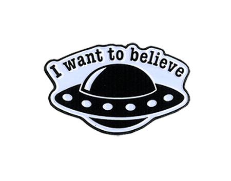 Believe Spaceship Enamel Pin | New Stuff, 2018