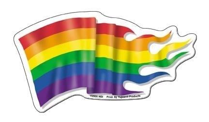 Flame Pride Flag Die-Cut Magnet