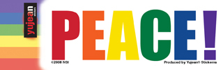 Pride Word Peace Sticker