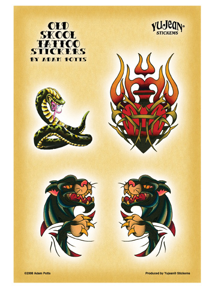 Adam Potts Old Skool Tattoo Panther Multi-Pak Stickers