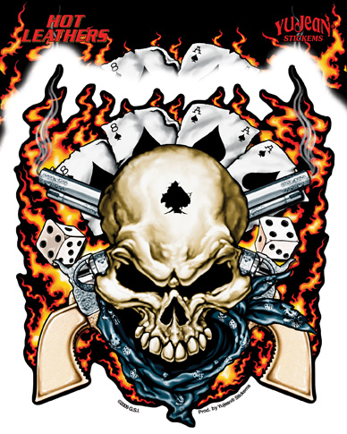 Hot Leathers Dead Man's Hand Sticker