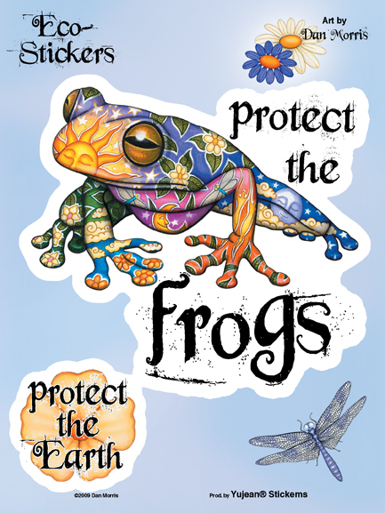 Dan Morris Protect The Frogs 6x8 Sticker