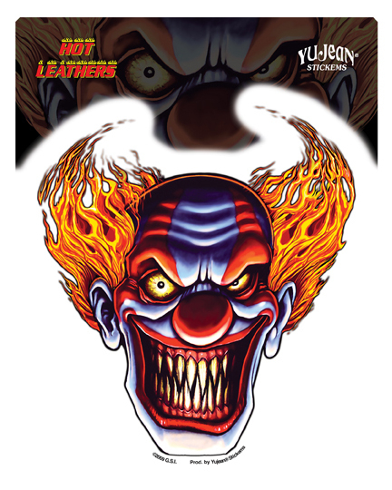 Hot Leathers Evil Clown Sticker