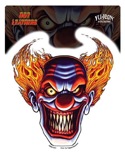 Hot Leathers Evil Clown Sticker
