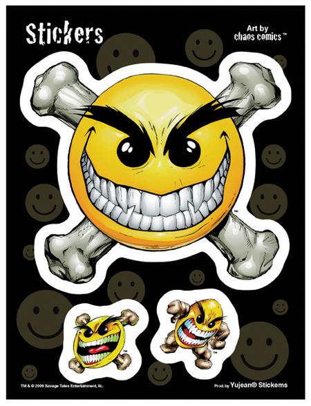 Chaos Smiley 6x8 Sticker
