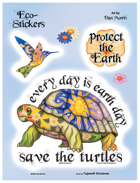 Dan Morris Save The Turtles 6x8 Sticker