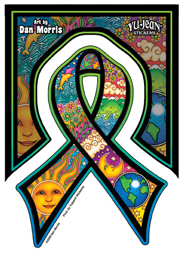 Dan Morris Earthday Ribbon Sticker