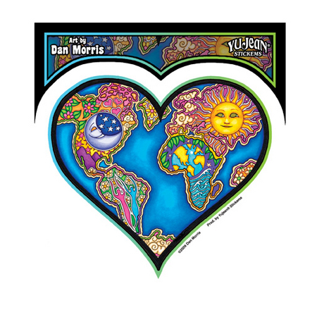Dan Morris Earth Heart Sticker