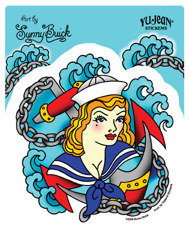 Sunny Buick Sailor Girl Sticker