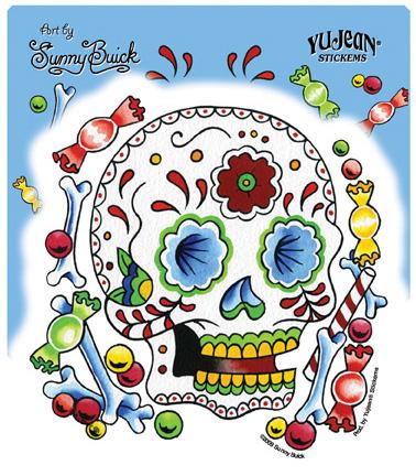 Sunny Buick Candy Skull Sticker