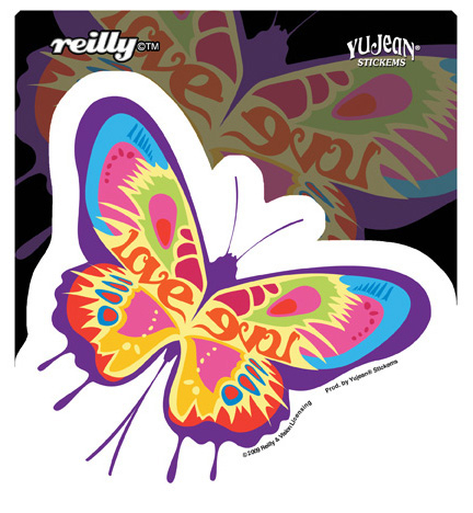 Reilly Love Butterfly Sticker