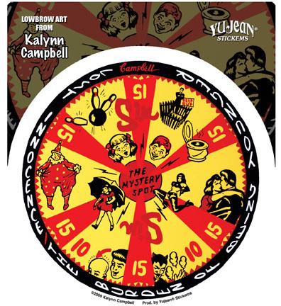 Kalynn Campbell Lowbrow Mystery Spot Gameboard Sticker