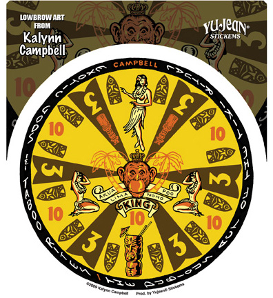 Kalynn Campbell Tiki Gameboard Sticker