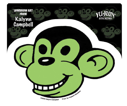 Kalynn Campbell Lowbrow Monkey Sticker