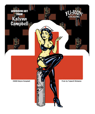 Kalynn Campbell Naughty Nurse Sticker