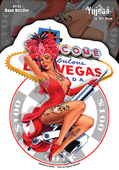 Dave Nestler Vegas Tattoo Pinup Sticker