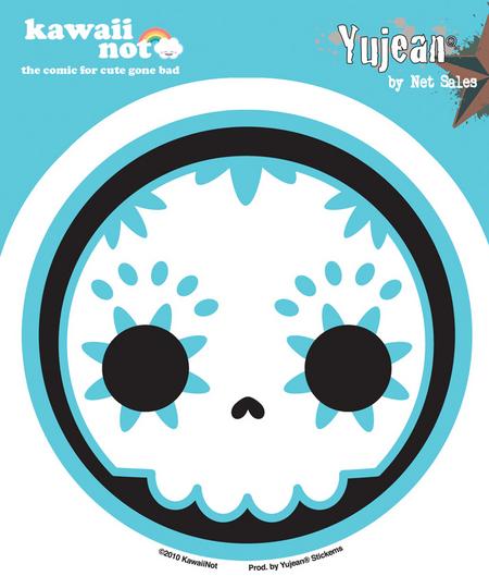 Kawaii Not Blue Sugar Skull Sticker