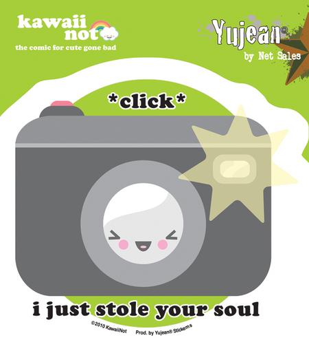 Kawaii Not Click Sticker