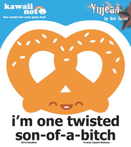 Kawaii Not Twisted Sticker