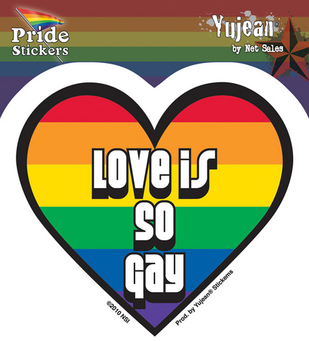 Love Is So Gay Pride Sticker | Window Stickers: Clear Backing, Put Them Anywhere!
