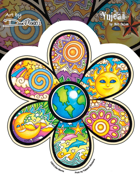Dan Morris Earth Flower Sticker