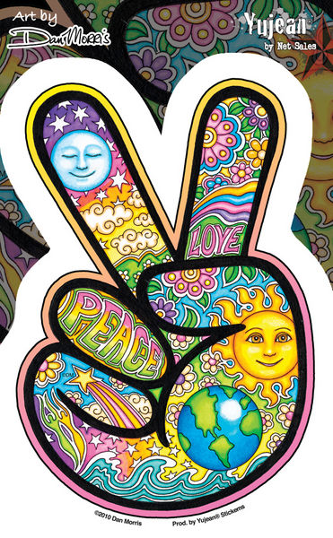 Dan Morris Peace Hand Sticker | Hippie
