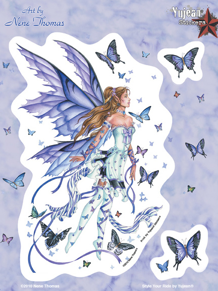 Nene Thomas Fairy Lavender Serenade 6x8 Sticker | Butterflies
