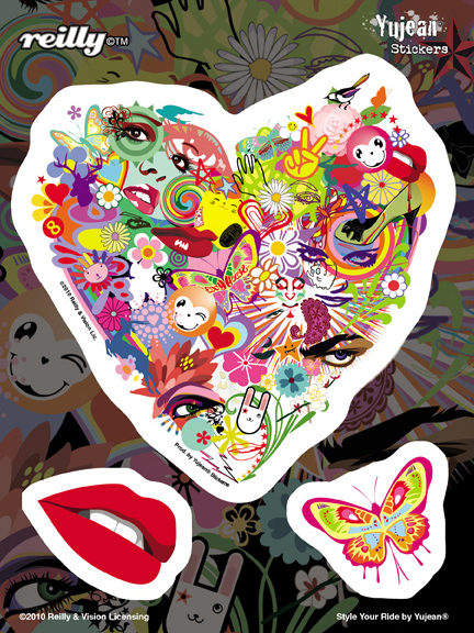 Reilly Flowering Heart Sticker | Trend