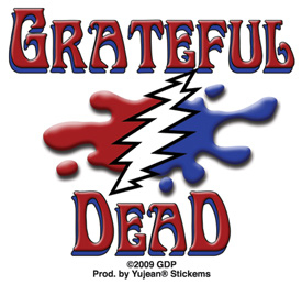 Mini Grateful Dead Melting Grateful Dead Sticker, Packs of 25 | Hippie