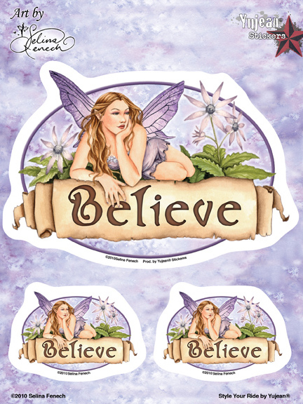 Selina Fenech Believe Fairy 6x8 Sticker | Fairies and Fantasy