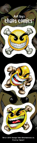 Chaos Mini Smileys Strip Sticker | Window Stickers: Clear Backing, Put Them Anywhere!