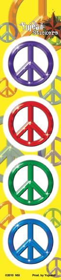 Mini Peace Strip Sticker | Peace and Eco