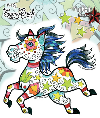 Sunny Buick Candy Horse Sticker