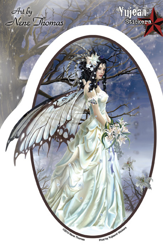 Nene Thomas Fairy Bride Sticker | Window Stickers: Clear Backing, Put Them Anywhere!