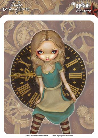 Jasmine Becket-Griffith Steampunk Alice in Wonderland Sticker