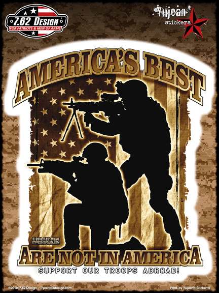 7.62 Design America's Best 6x8 Sticker | Military!!