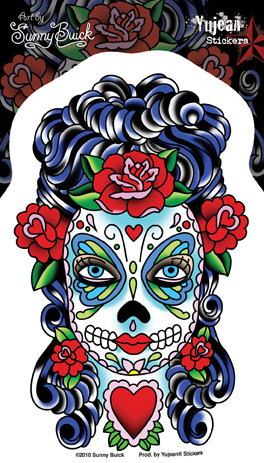 Sunny Buick Butterfly Eyes Sugar Skull | Latino