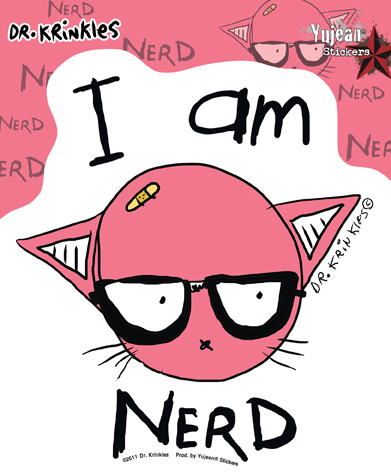 Dr Krinkles I Am Nerd Sticker | Stickers