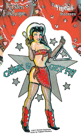 Kirsten Easthope Come and Get It Pinup Sticker | Stickers