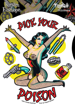 Kirsten Easthope Pick Your Poison Pinup Sticker | Pinups