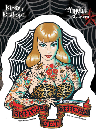 Kirsten Easthope Snitches Get Stitches Sticker | Pinups