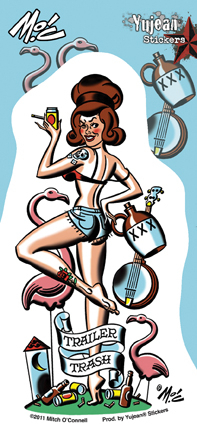 Mitch O'Connell Trailer Trash Pinup Sticker | Pinups