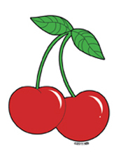 Mini Cherries Stickers 25-Pack | Roller Derby